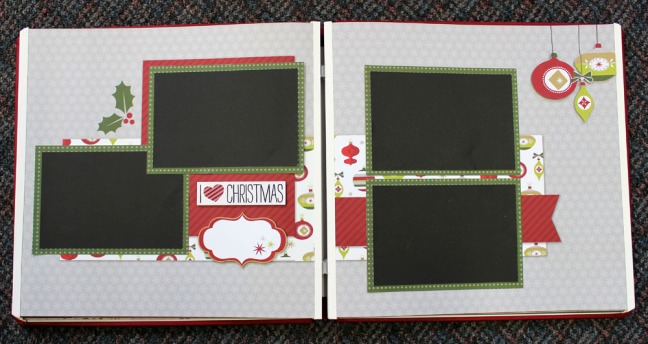 Creative Memories Holiday Page Layout