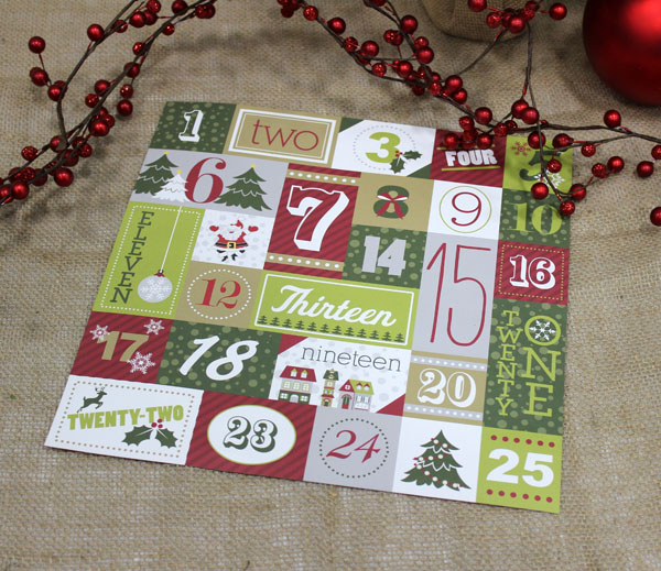 Christmas Joy Numbers Paper
