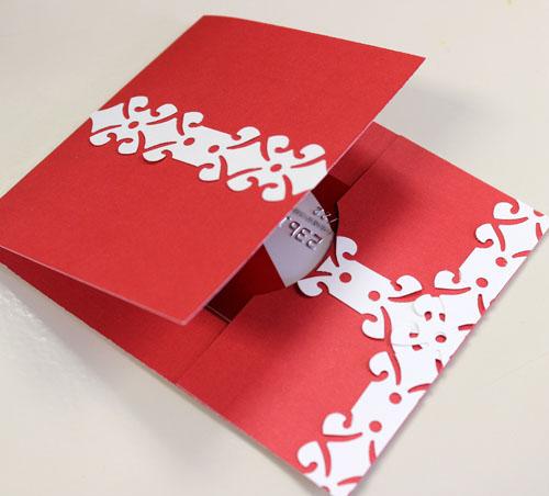 12 days of christmas ideas day 2  santa gift card holder