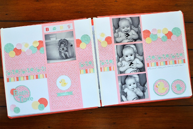 Baby Bath Time Scrapbook Layout Ideas Creative Memories Blog