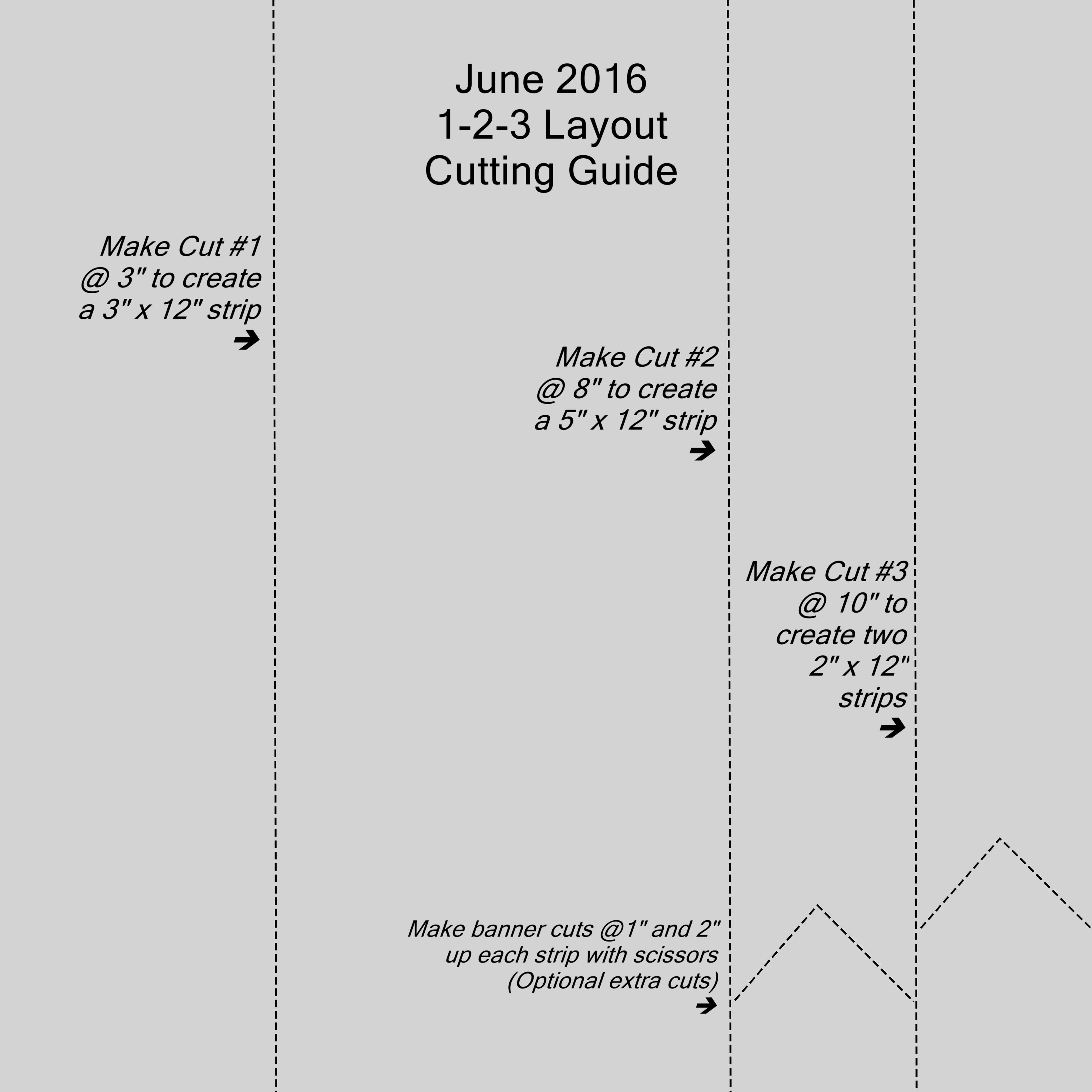 June 1-2-3 Cutting Guide