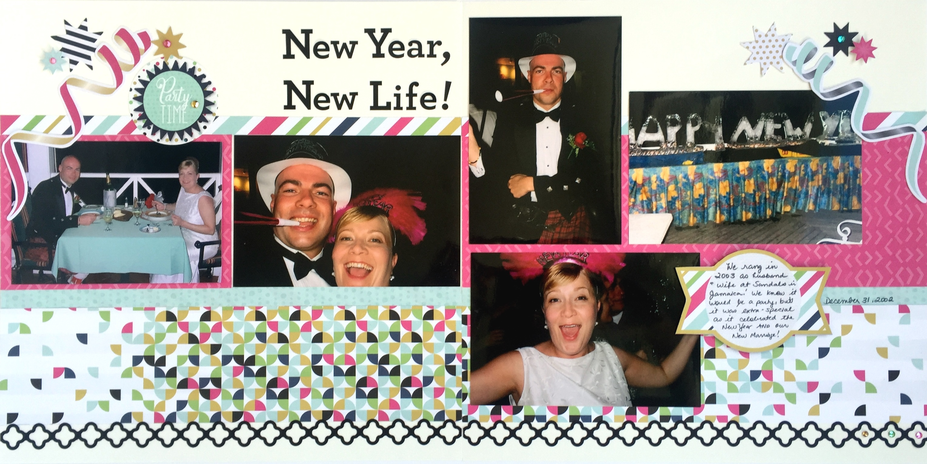 How to make scrapbook for husband - Again Simple Strips Of Paper Are Easy To Apply And Provide Cohesion Across The Two Pages Of The Layout To Make This Layout