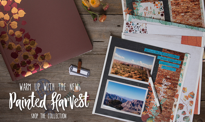 Painted Harvest scrapbook collection from Creative Memories