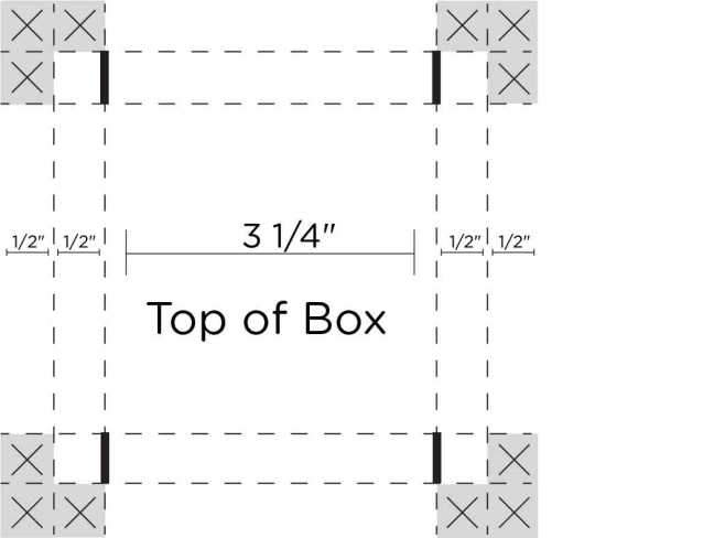 top-paper-box-sketch