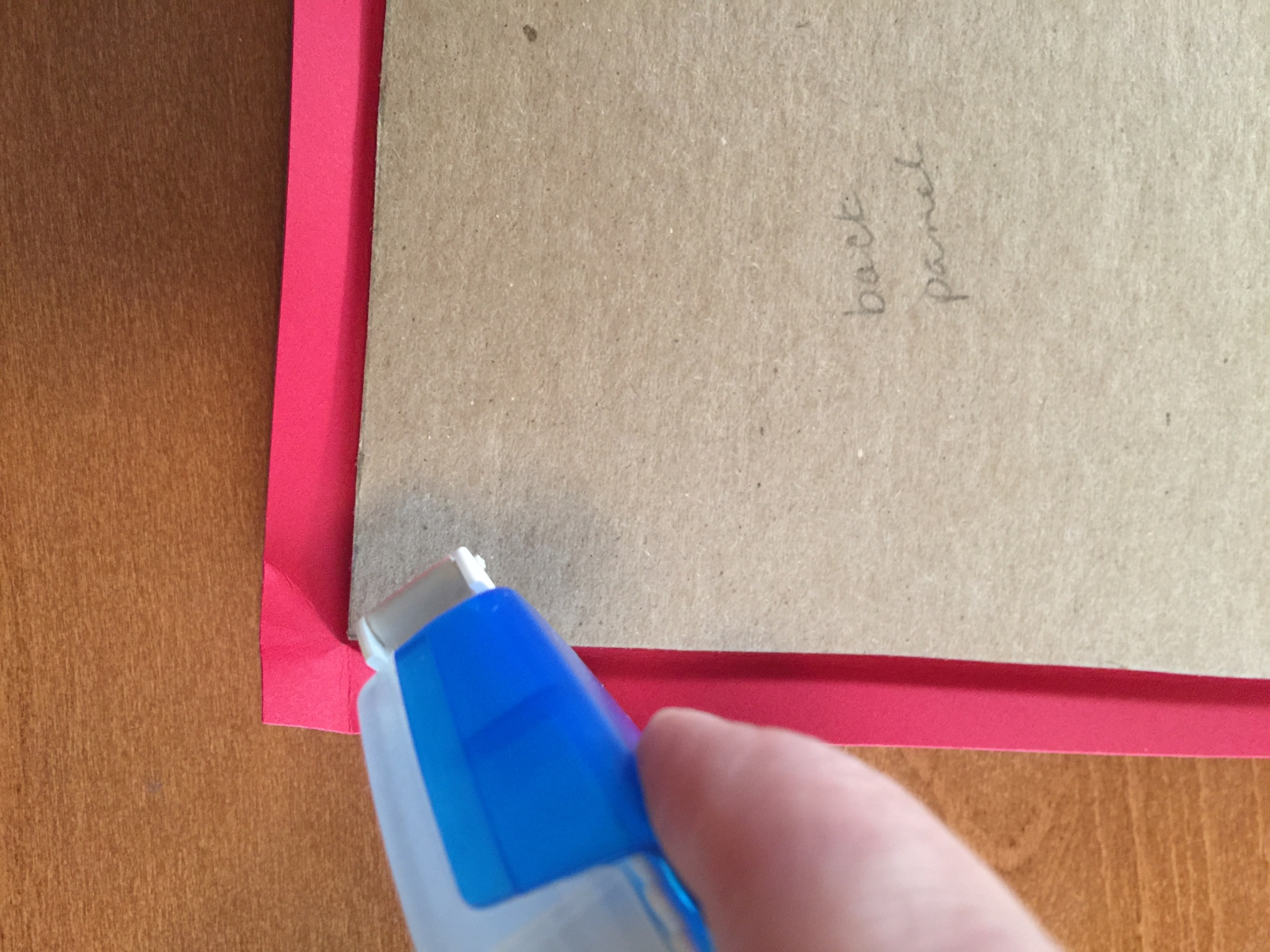 Corner adhesive