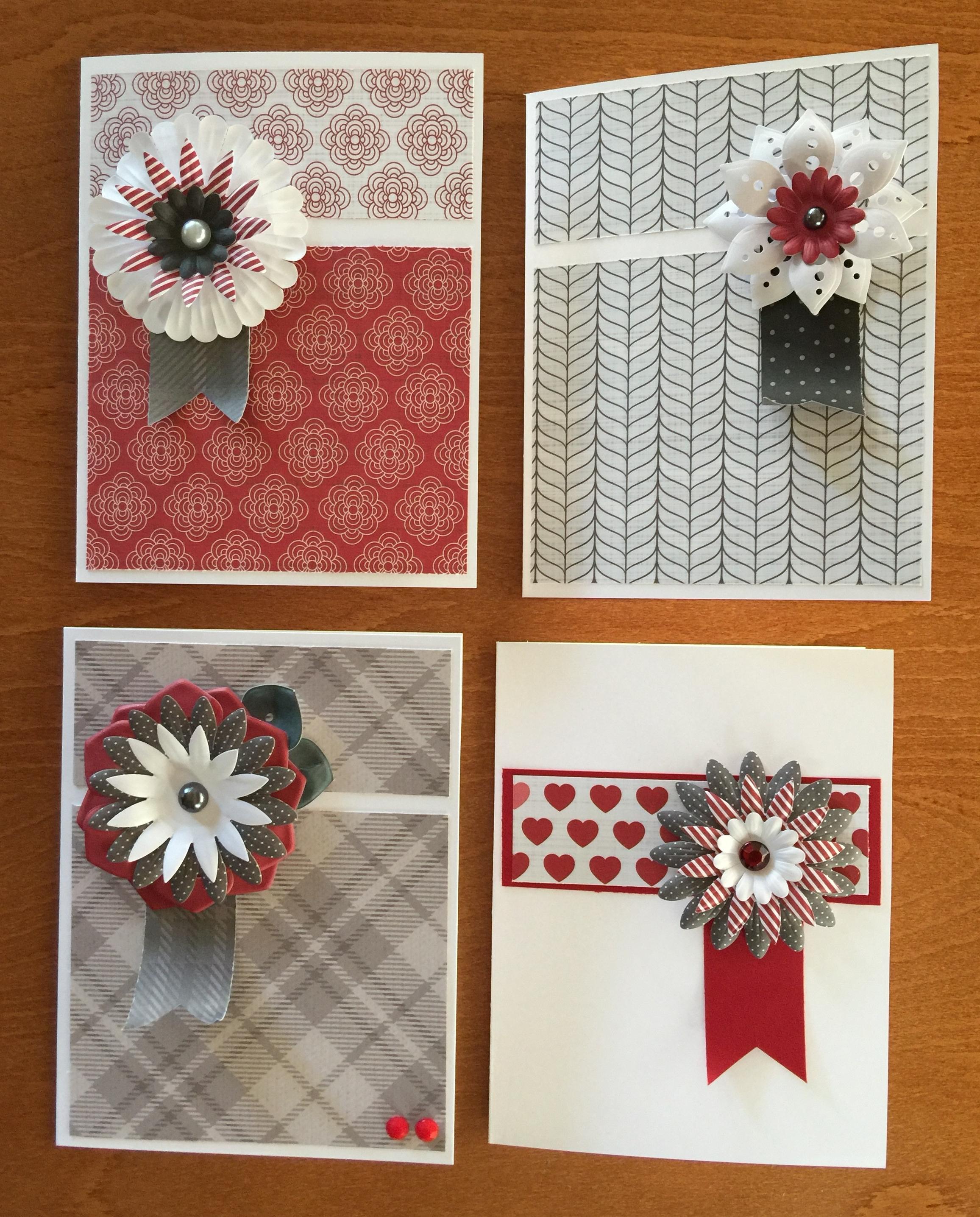 Set of Four Notecards