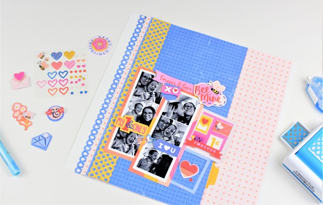 Bee-Mine-Valentine-Scrapbook-Layout-Creative-Memories
