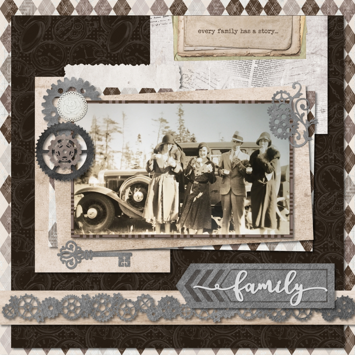 Digital Scrapbooking Layout Ideas for the Archiver's ...
