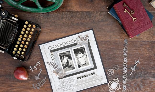 Vintage-Scrapbook-Layout-Archiver's-Collection-Creative-Memories