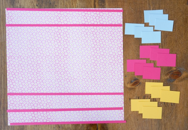 Strips Cut Out of Cardstock