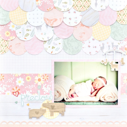 Little-Lamb-Baby-Girl-Paper-Pack-Layout-Creative-Memories