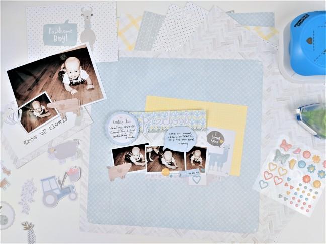 Hand Stitching Baby Scrapbook Layouts Creative Memories Blog