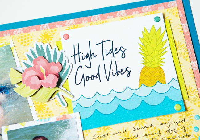 High Tides Good Vibes Sun Kissed Beach Scrapbook Layout Creative