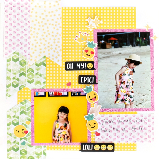 Emoji-Moods-While-Scrapbooking-Layout-Creative-Memories