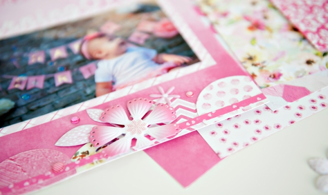 Mix-Match-Pink-Flower-Scrapbook-Layout-Creative-Memories4