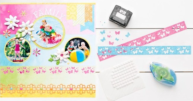 Mix-Match-Two-Page-Scrapbook-Layout-Butterflies-Creative-Memories