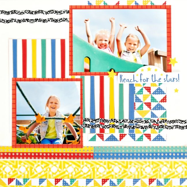 Essentials-Foil-Paper-Sunshine-Border-Maker-Cardtridge-Scrapbook-Layout-Creative-Memories
