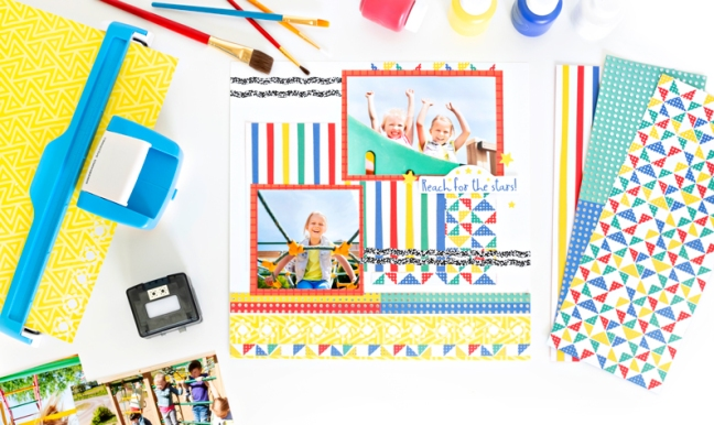 Play With A Primary Palette With This Essentials Classic Scrapbook