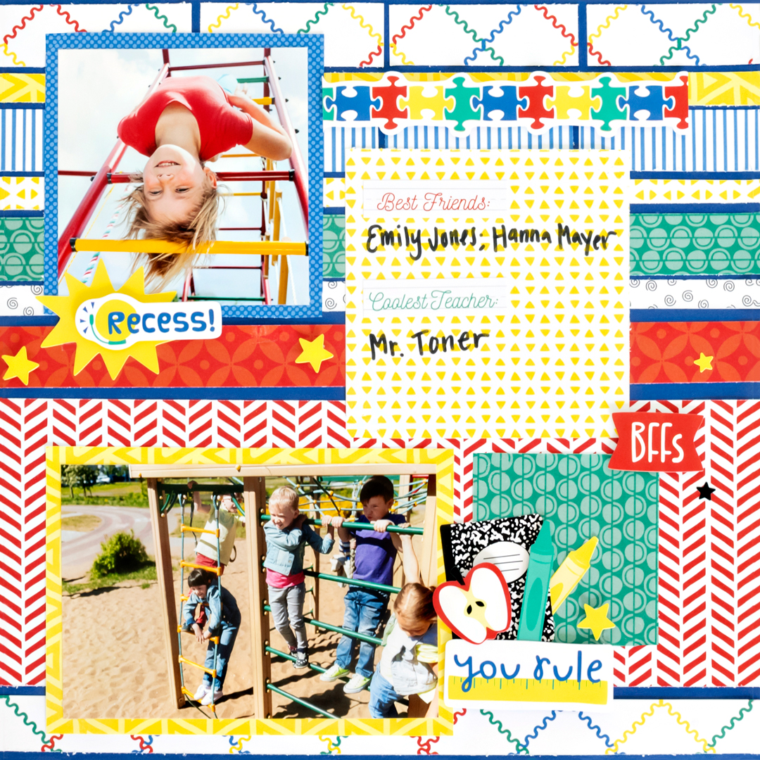 Essentials-School-Scrapbook-Layout-Creative-Memories