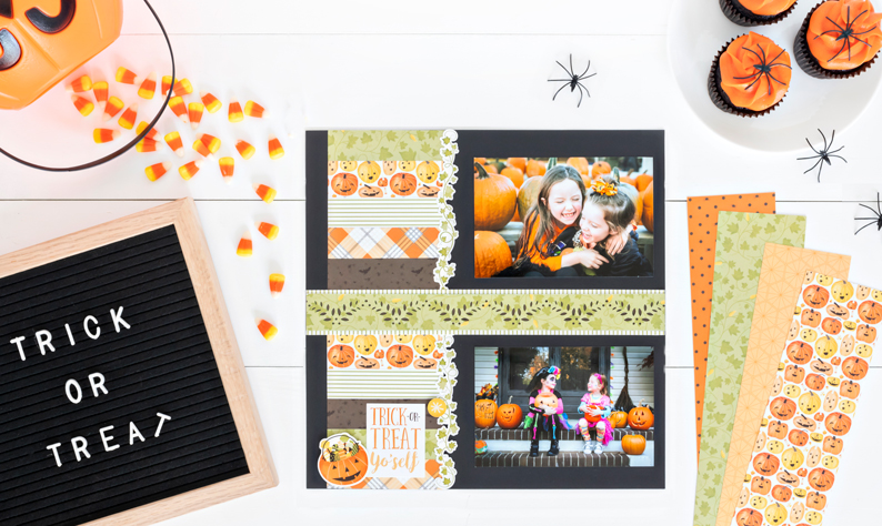 Pumpkin-Spice-Halloween-Scrapbook-Layout-Ideas-Creative-Memories-2