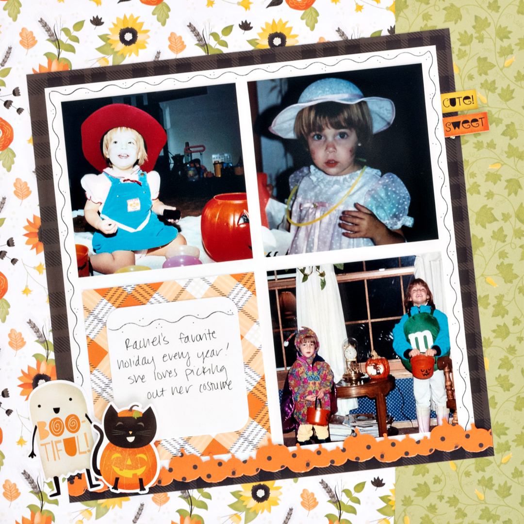Pumpkin-Spice-Halloween-Scrapbook-Layout-Left-Creative-Memories