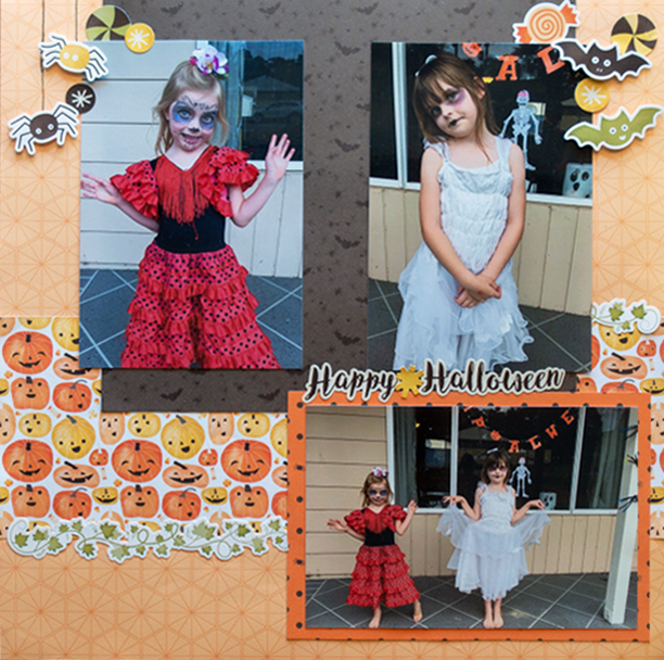 Pumpkin-Spice-Halloween-Scrapbook-Layout-Creative-Memories