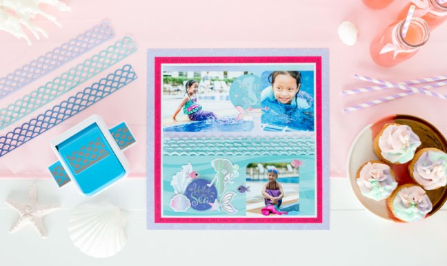 seas the day with this mermaid scrapbook layout creative memories blog