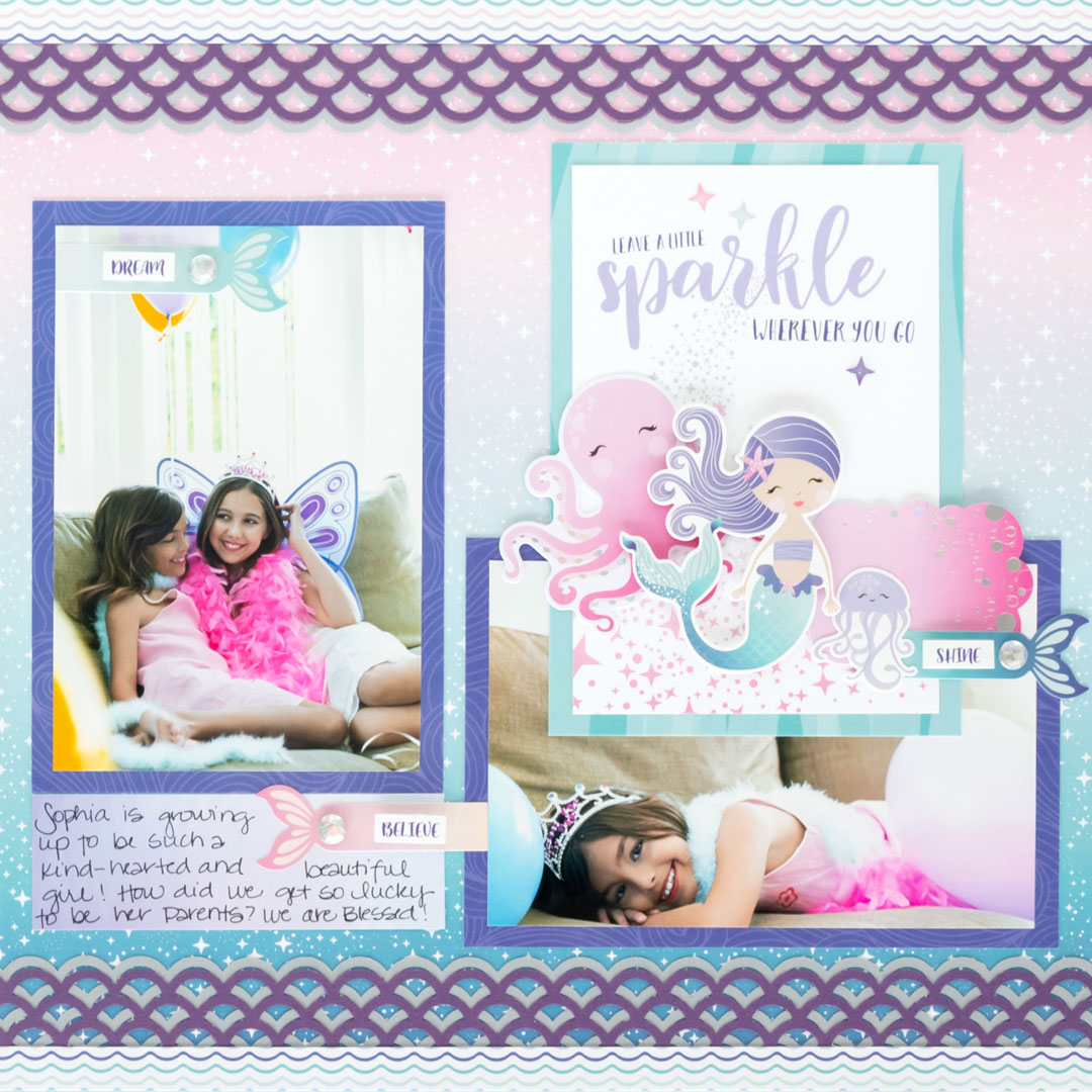 Mermaid-Scrapbook-Layout-Creative-Memories