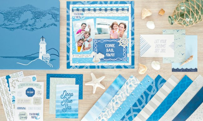 Memories Of The Sea: Go Nautical Like Never Before With This Beach Scrapbook