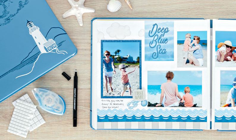 Deep-Blue-Sea-Nautical-Themed-Photo-Album-Creative-Memories