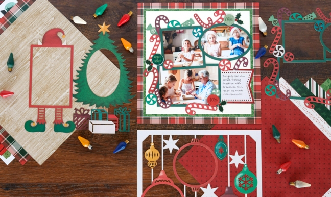 Layer on the Festivities With These Christmas Scrapbook Layouts